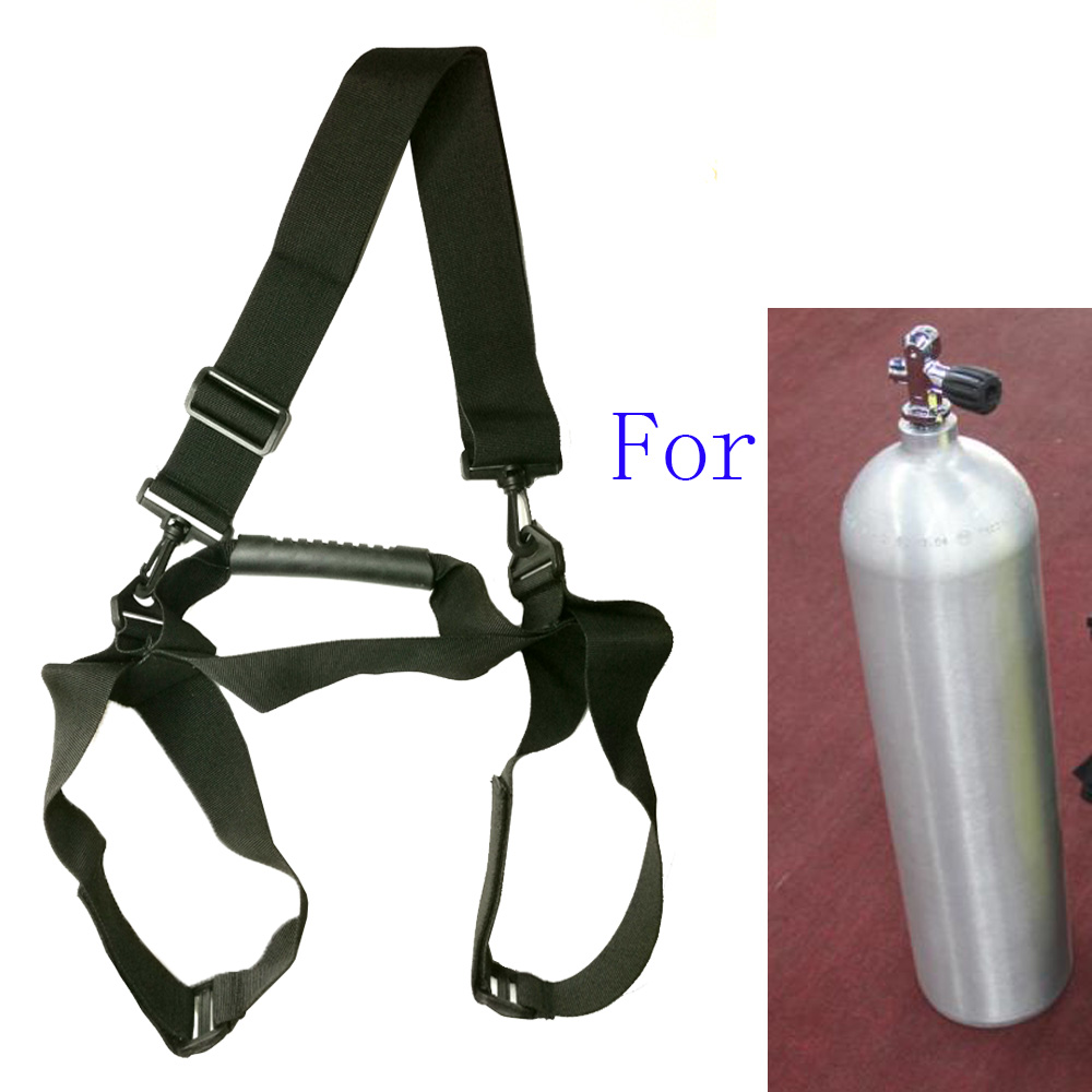 Scuba Diving Tank Air Cylinder Transport Carry Shoulder Strap Carrier Holder With Handle