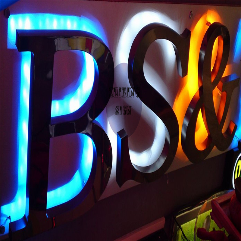 Factoy Outlet Outdoor Backlit  LED Metal (=galvanized Sheet ) Signs With Black Painting