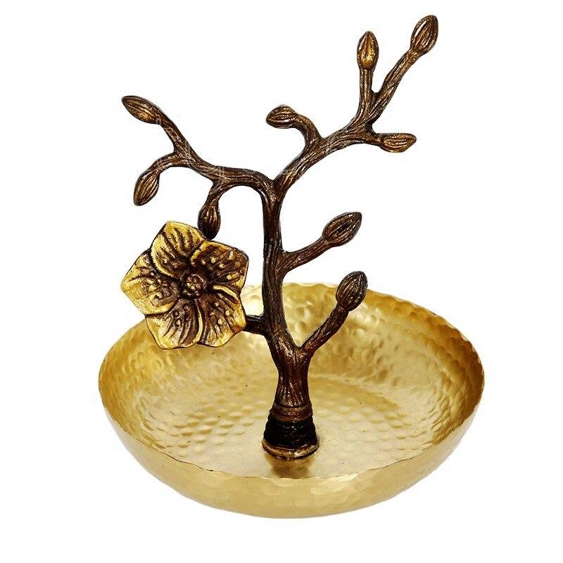Cocostyles InsFashion super top fleur de prunier modélisation marteau grain à la main en laiton plateau pour la mode bijoux magasin affichage plat