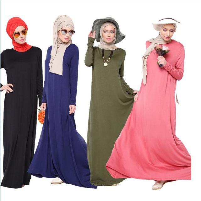 2016 la más nueva manera de Europa Del Sudeste de Asia y Medio Oriente Islámico Turquía adulta Musulmana abaya del vestido más tamaño suelta Punto w1262