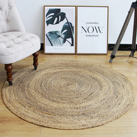 Natural reed handmade cool carpet for summer, decoration reed rug, big size round shaped reed mat