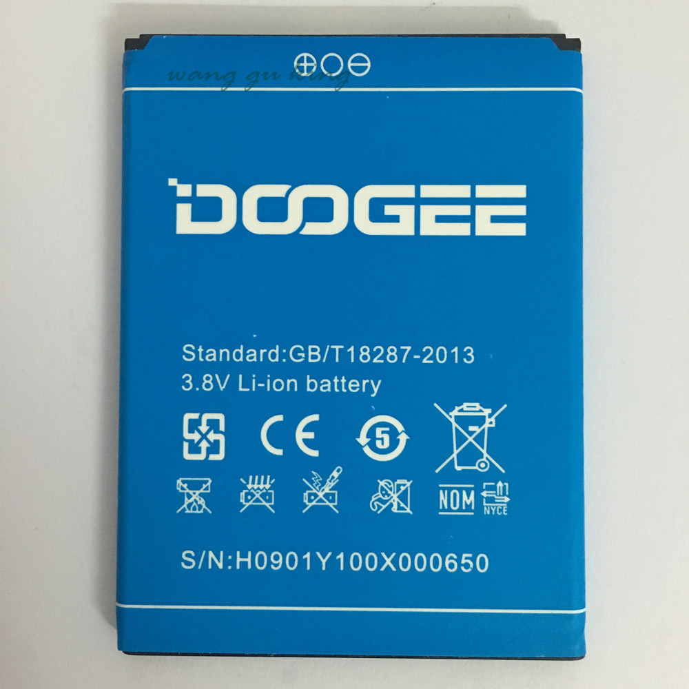 Tracking Number 2200mAh High Quality New Battery Backup Bateria For DOOGEE NOVA Y100X For Doogee Y100X Battery Smartphone In st