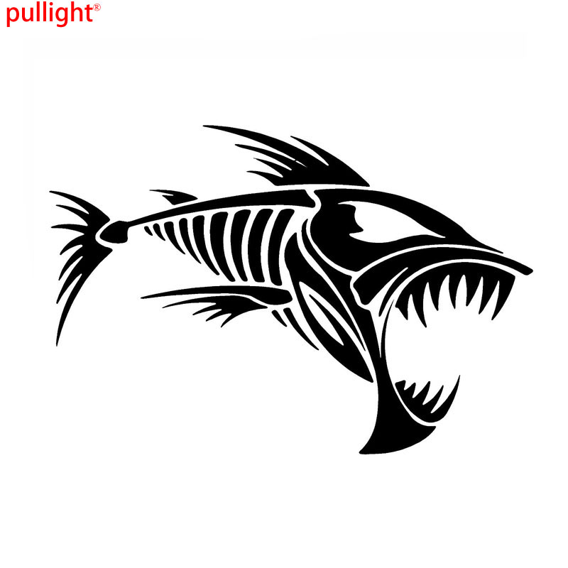 Skeleton Fish Bones Vinyl Decal Car Sticker Window Decoration Fashion Funny Car Sticker Motorcycle SUVs Bumper Car Stylings in Car Stickers from Automobiles Motorcycles