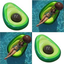 New Children Avocado Swimming Ring Inflatable Animal Swim Giant Pool Floats Bathing Inflatable Double Raft Rings Toy Adults Gift advertising outdoor giant inflatable polar bear animal 6meters high inflatable toy