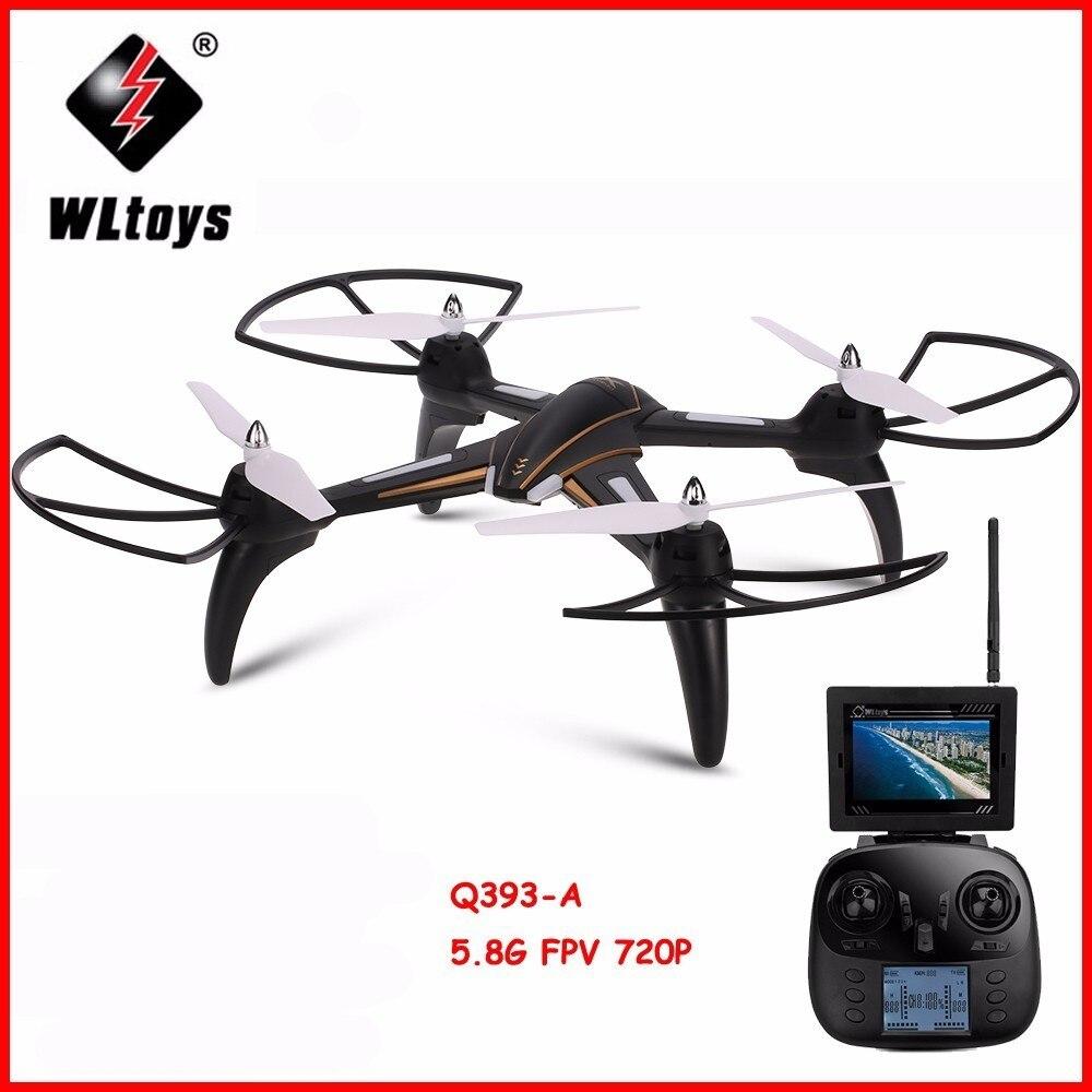 Wltoys q393 rádio controle rc drone dron 5.8g fpv 5mp câmera modo headless quadcopters voando helicóptero com luz rtf drones