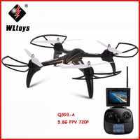 WLtoys Q393 Radio Control RC Drone Eders 5,8G FPV 5MP Kamera Headless Modus Quadcopters Fliegen Hubschrauber mit Licht RTF drohnen