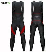 WOSAWE Men's 3D Padded Cycling Bike Bib Shorts Quick Dry Cycle Ciclismo Road MTB Bike Bicycle Racing Trousers Pro Cycling Pants