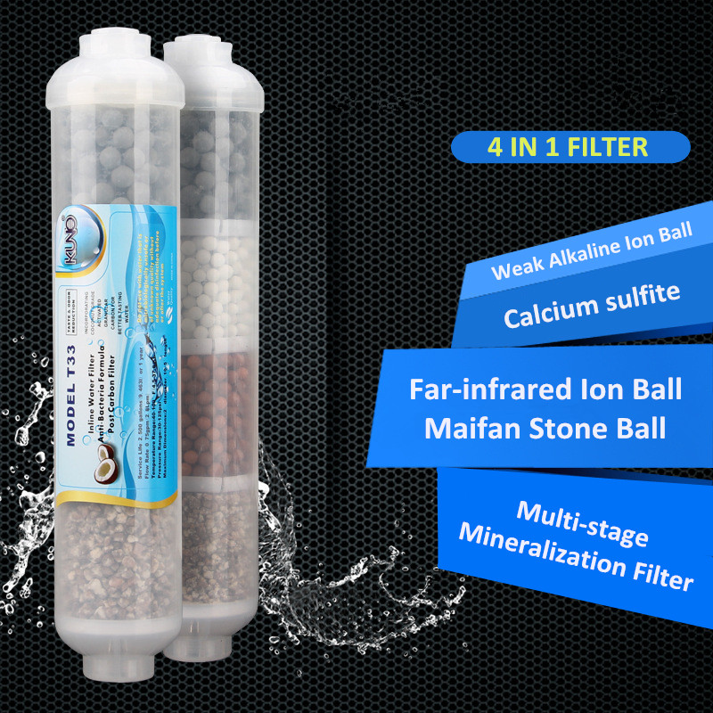 Weak Alkaline Maifan Stone Multistage FILTER CARTRIDGES Minerals 4 IN1 FILTER Adjust PH/Calcium+Quick Fittings Free 2PCS empty inline water filter housing 12 x 2 5 refillable in line cartridge with 2pcs 1 4 quick connect fittings