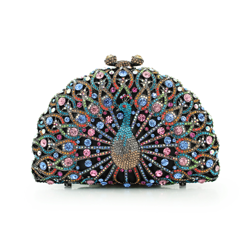 3 colors peacock metal clutch bag / bridal clutch bag / woman handbag цена 2017