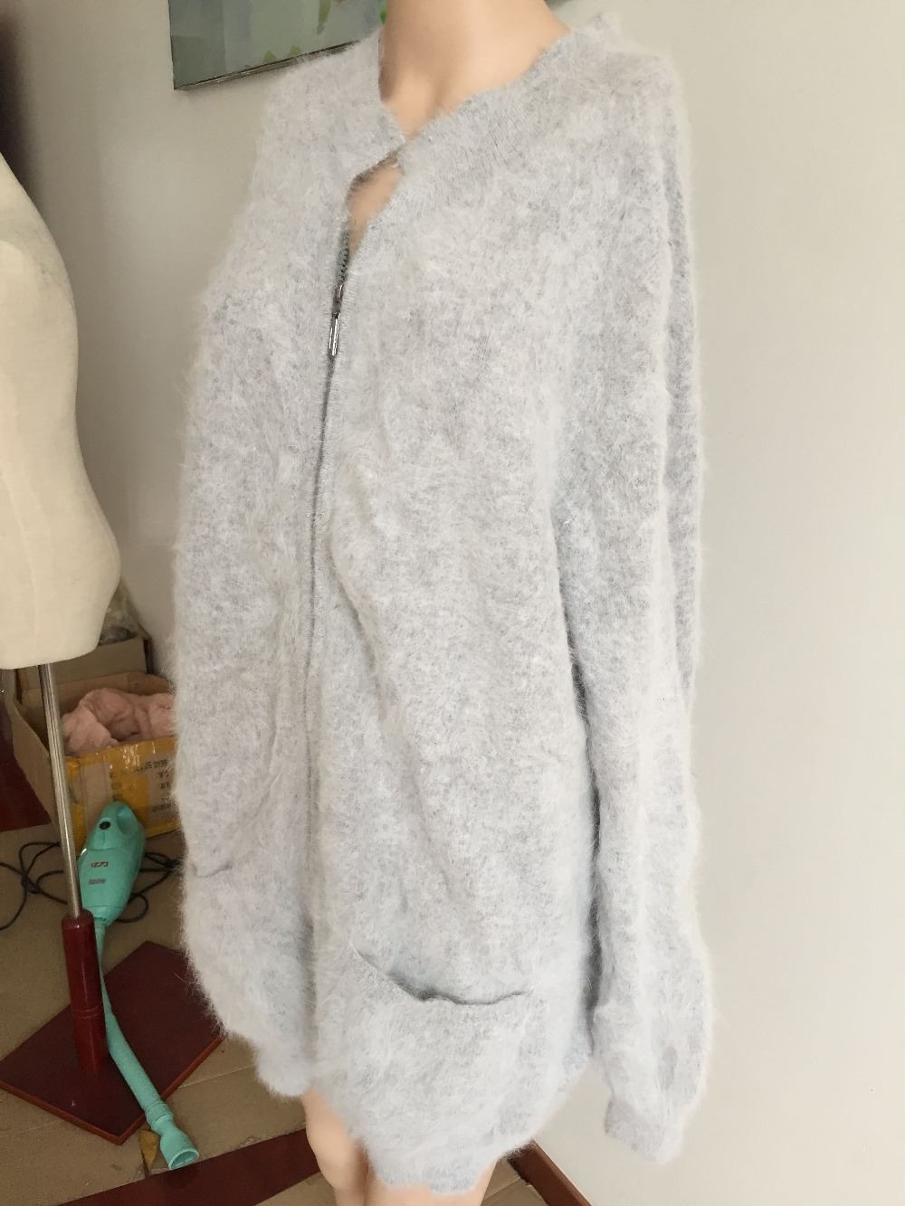 24ba62a88b Very Very Low Price Inventory clearance sale 100% Mink Cashmere Women  Sweaters Cardigans with zipper free shipping-in Cardigans from Women s  Clothing on ...