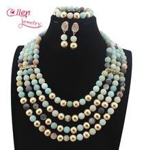 Великолепный Африканский Модный женский комплект из ожерелья