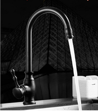High Quality New kitchen faucet antique black brass 360 degree water mixer sink mixer tap wash basin faucet oil rubbed bronze