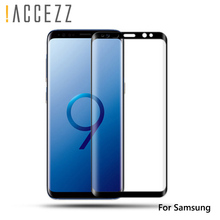 !ACCEZZ 3D Curved Full Coverage Tempered Glass For Samsung S8 S9 Plus Note 8 Phone HD Protective Film Screen Cover Rounded Edge