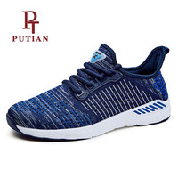 PU TIAN Adult Men Women Breathable Air Mesh Running Shoes Outdoor Comfortable Athletic Sneakers Unisex Light
