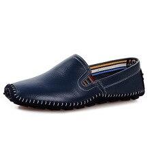 Количество Мужчин Натуральная Кожа Повседневная Обувь Скольжения на Обувь для Вождения Квартиры Большой Размер 38-47 Мужчин Мокасины Лодка Обувь Chaussure XK031616
