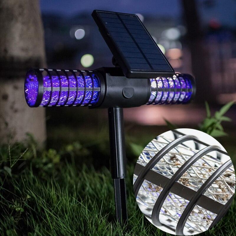 Solar Mosquito Killer Lamps Bug Zapper Electronic Mosquito Trap UV Anti Mosquito Night Lamp Solar Light For Garden Home Bedroom стоимость