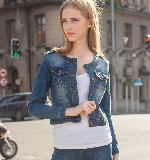 Colored Jean Jackets Ladies nh5WeO