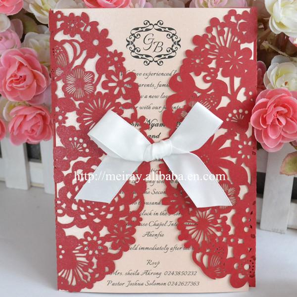 decoracin de la boda tarjeta de invitacin modelo rojo y blanco de lujo de la