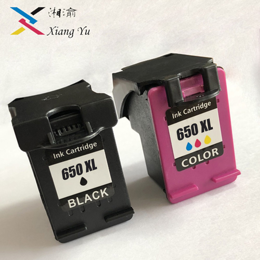Brand New 650XL Refilled Ink Cartridge Replacement for <font><b>HP</b></font> 650 XL for <font><b>HP</b></font> Deskjet 1015 1515 2515 2545 2645 <font><b>3515</b></font> 3545 4515 4645 image