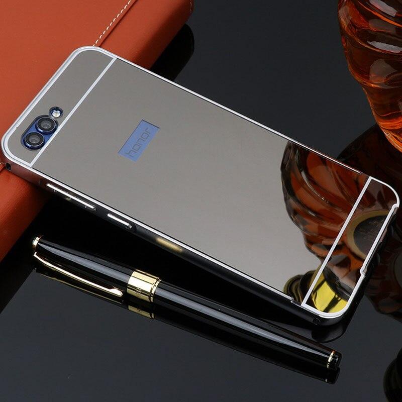 Galleria fotografica Per Huawei <font><b>Honor</b></font> Caso Vista 10 View10 Specchio di Alluminio Del Respingente Del Metallo Per Funda Huawei <font><b>Honor</b></font> V10 Copertura in Acrilico Posteriore del PC telefono Custodie