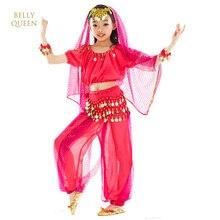 2018 Indické taneční kostýmy pro děti 6ks Dětský břišní tanecní kostým Bellydance Tribal Danza Del Ventre Gypsy Costumes