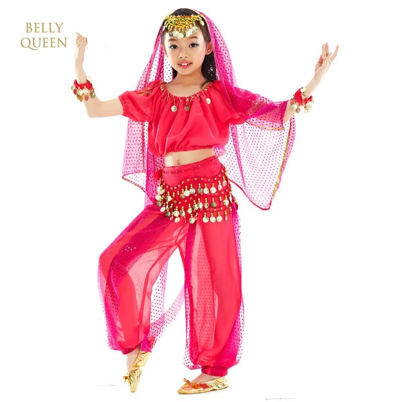 2018 الهندي الرقص ازياء للأطفال 6 قطع - منتجات جديدة