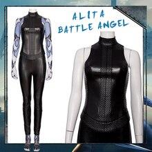 MANLUYUNXIAO Zentail Alita Battle Angel Cosplay Costume Black Leather Uniform Set Girls Halloween Suit Carnival Women