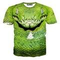 15-20 Anos Meninos Grandes T-shirt Viper 3D Tiger Dog Impresso Curto Camiseta manga Crianças Grandes Roupas de Rua Skate Boy Tops tyh-20691