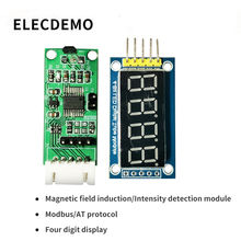 Hall sensor module Digital display magnetic field induction intensity detection bare board Modbus and AT protocol