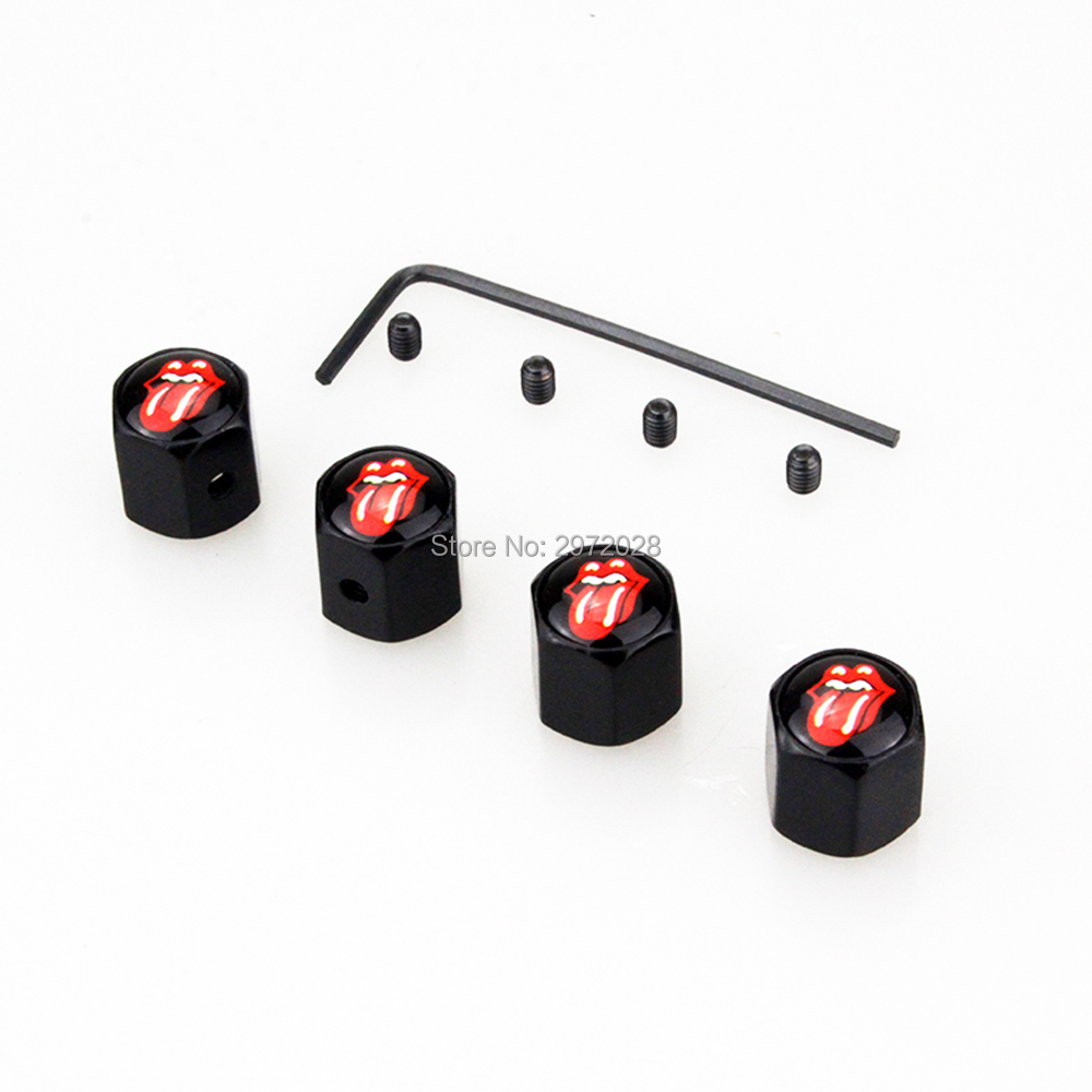 4 x Car Styling Funny Red Tongue Anti-theft Stainless Wheel Tire Valve Stems Caps Car Wheel Tyre Tire Stem Air Valve Caps4 x Car Styling Funny Red Tongue Anti-theft Stainless Wheel Tire Valve Stems Caps Car Wheel Tyre Tire Stem Air Valve Caps