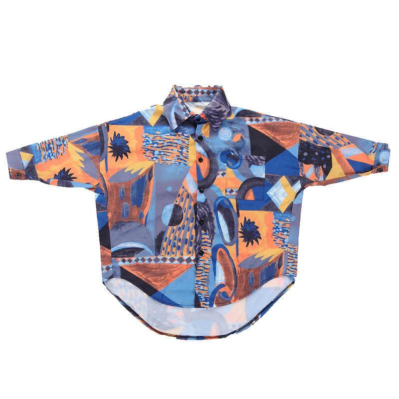 Детская длинная рубашка с граффити черные шорты топ на бретелях одежда в стиле хип-хоп одежда танцевальные костюмы для девочек, Бальные танцы, уличная одежда