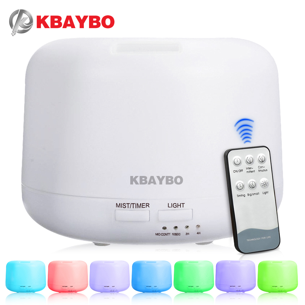 300ml Remote Control Ultrasonic Air Aroma Humidifier With 7 Color LED Lights Electric Aromatherapy Essential Oil