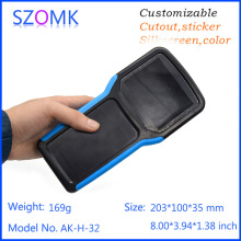szomk 4 piece a lot hot selling power supply black and green color plastic boxes electronics portable enclosure 204*100*35MM