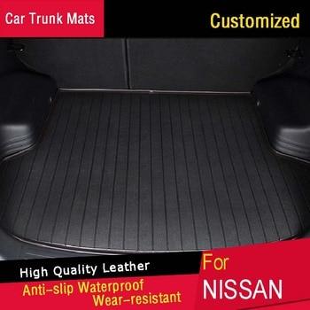 Car Trunk Mats for Car Floor mats For Nissan Qashqai X-trail Rouge March Murano Tiida Teana Customized Carpets Waterproof
