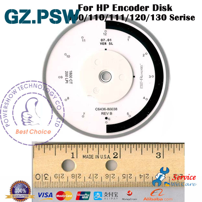 Original New C8108 67051 Encoder Disk Assembly For HP Designjet 110 120 130 HP110 HP111 HP120