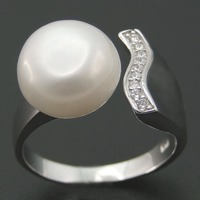 100 Natural Pearl Rings White Fashion Natural Freshwater Pearl 100 925 Sterling Silver Ring Pearl Jewelry