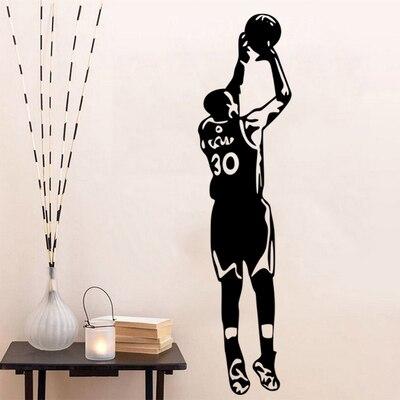 Free shipping diy wallpaper Basketball superstar Stephen Curry  home decor mural Sports wall sticker