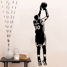Free shipping diy wallpaper Basketball superstar Stephen Curry  home decor mural Sports wall sticker