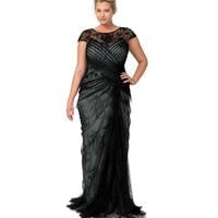 2015 кружева просто ради шеи мать свадебные платья русалка черный крышка втулки невест мать платье вечернее ну вечеринку платье на заказ