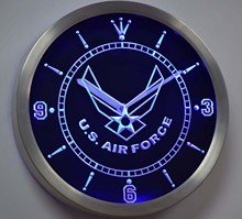 nc-tm175 US Air Force Neon Sign LED Wall Clock