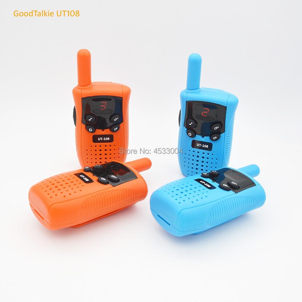 2PCS GoodTalkie UT108 Kids Walkie Talkie Toy Two Way Radio Handheld Kids Toy walkie talkie-in Walkie Talkie from Cellphones & Telecommunications