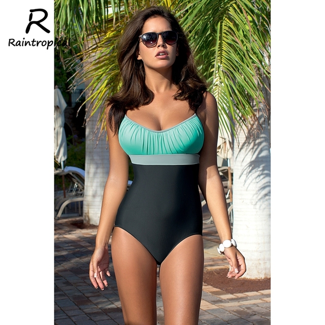 fc1d8707336 Raintropical Sexy One Piece Solid 2019 Swimsuit Sexy Plus Size Hot Swimwear  Women Vintage Bathing Suits Summer For Girls