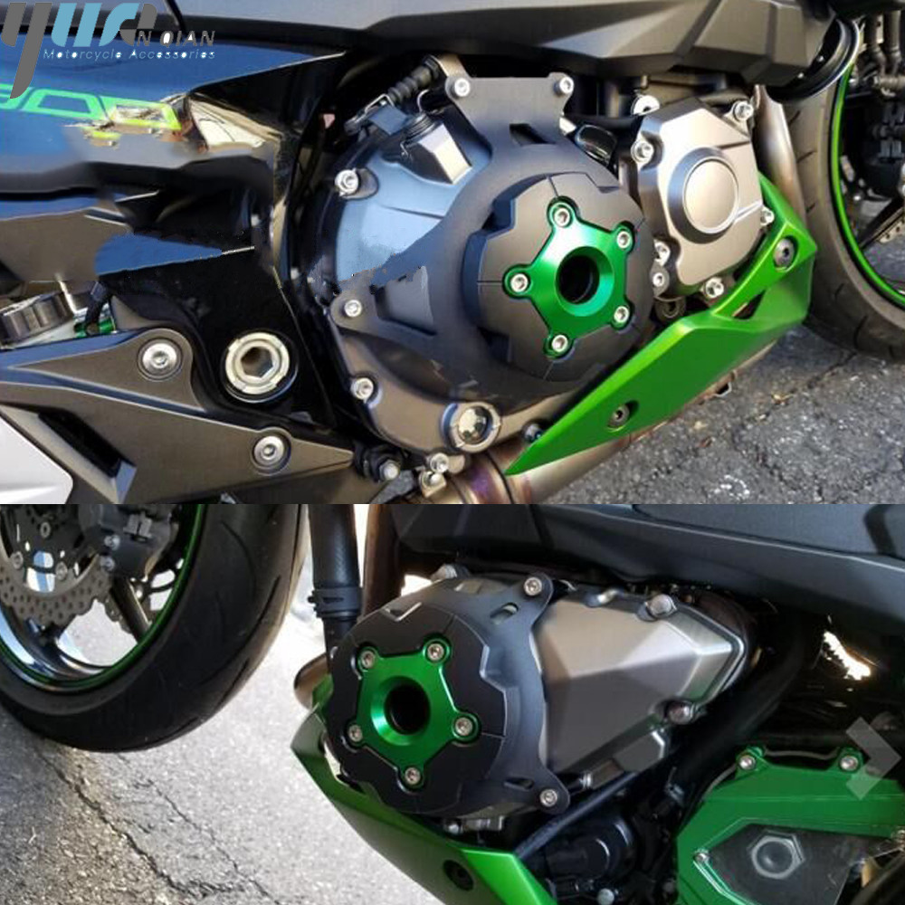 Set Covers Cover Crankcase Engine Carbon Honda CBR 600rr 07 08 09 10 11 12 15
