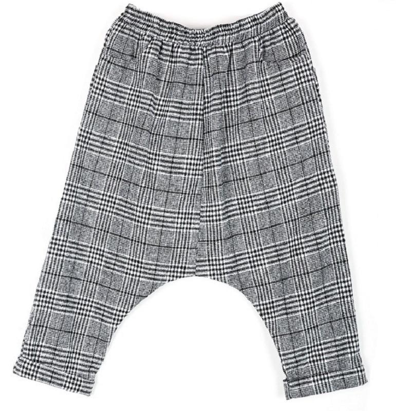 Automne Printemps Nouvelle Harem Hommes Personnalité Taille Et Élastique Plaid Marée Noir De Pantalon Mode wkn0OPX8
