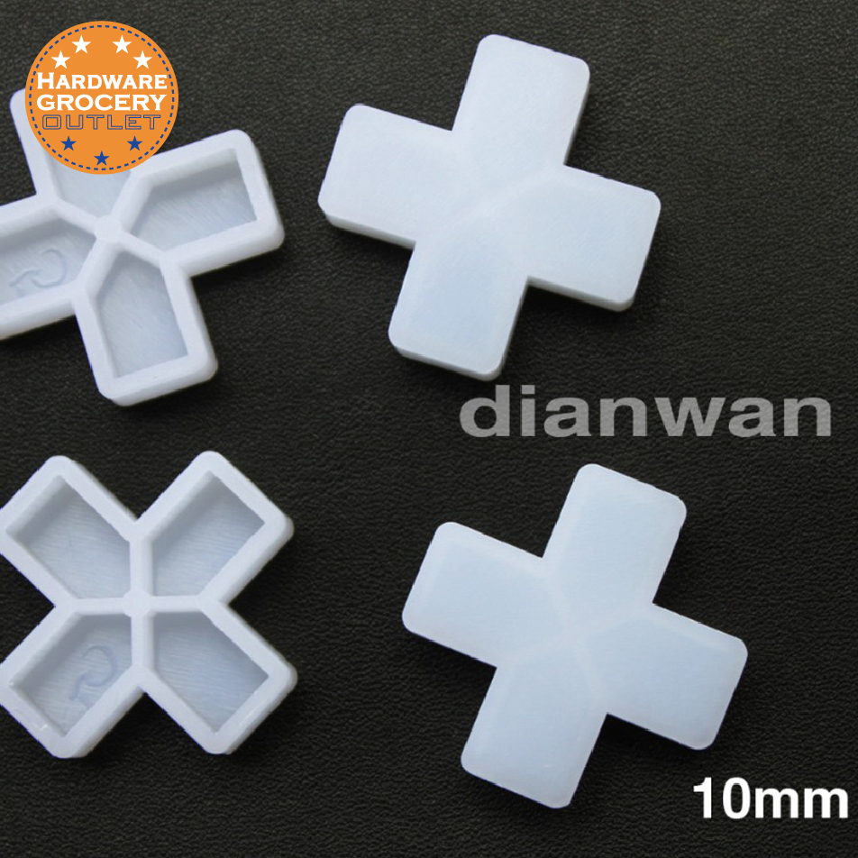 Distanziatori per piastrelle da 10 mm per la spaziatura di piastrelle per pavimento o parete, 200 pezzi