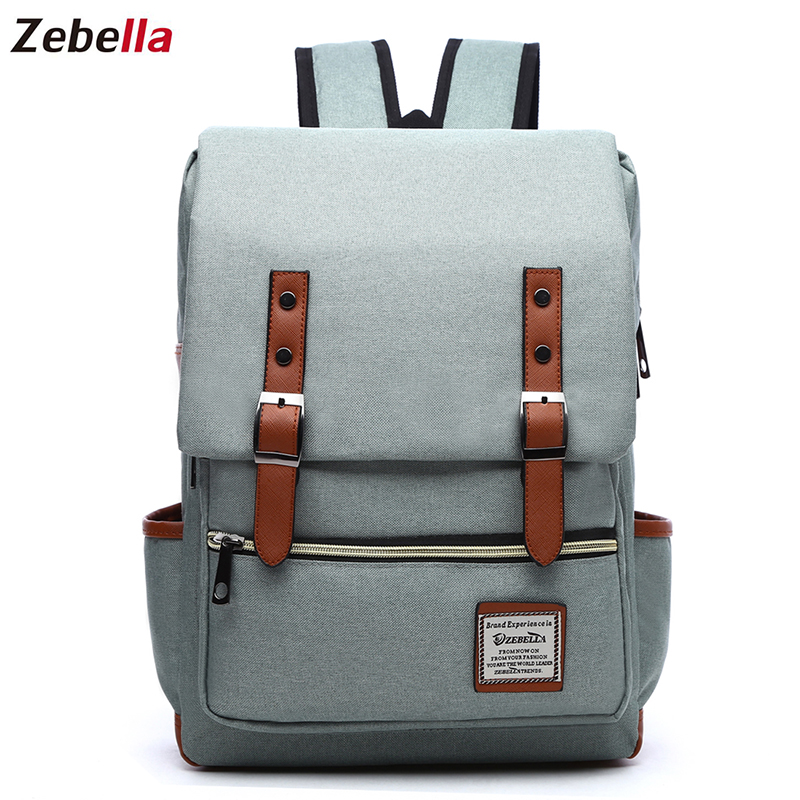 Zebella Female Backpack Students Laptop Backpack School Backpacks For Girls Boys Rucksack Casual Teenagers Travel Men's Bag