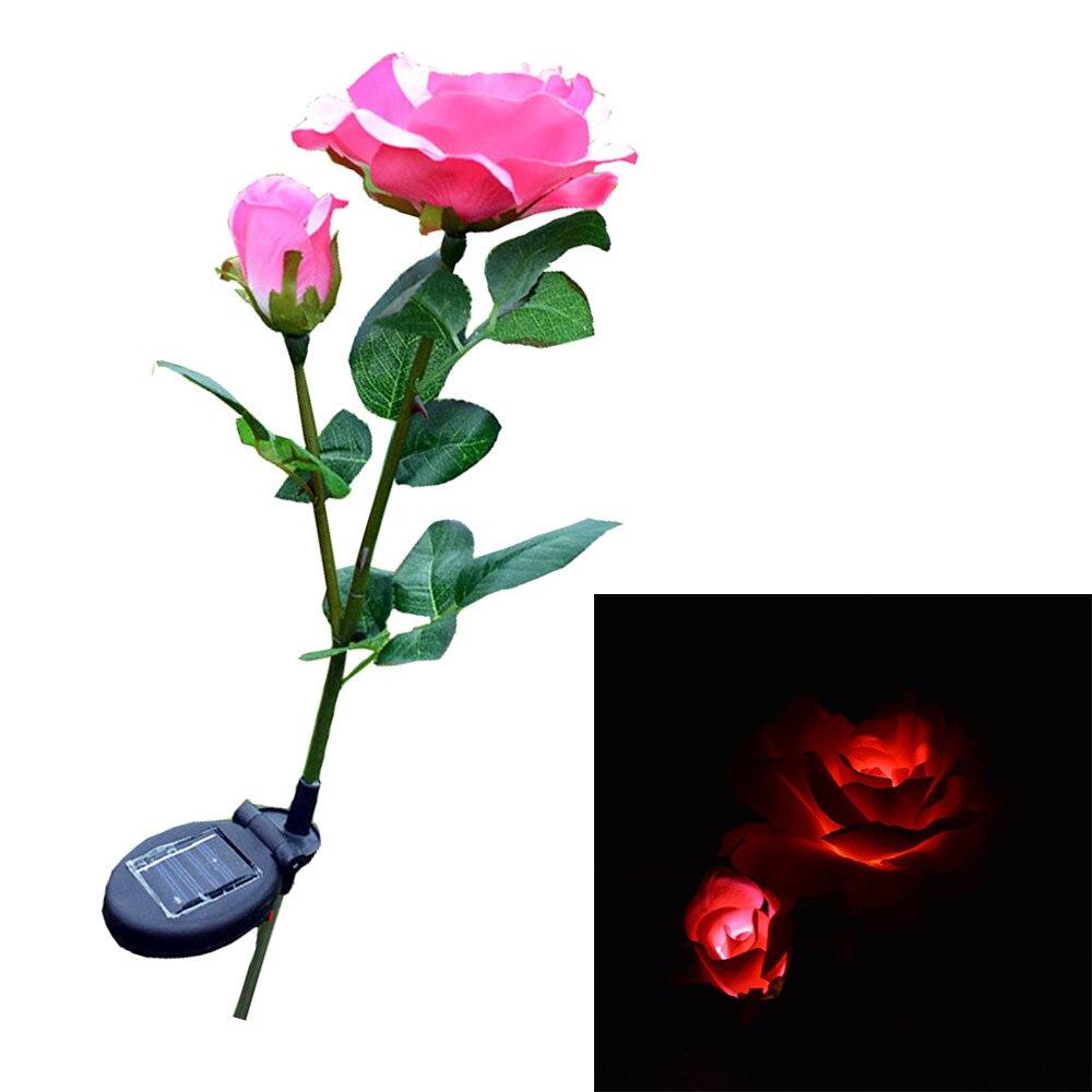 2 Kopf Solar Lichter Home Garten Solar Led Dekorative Außen Rasen Lampe 2 Kopf Sonne Rose Licht Blume Lampen Dekoration