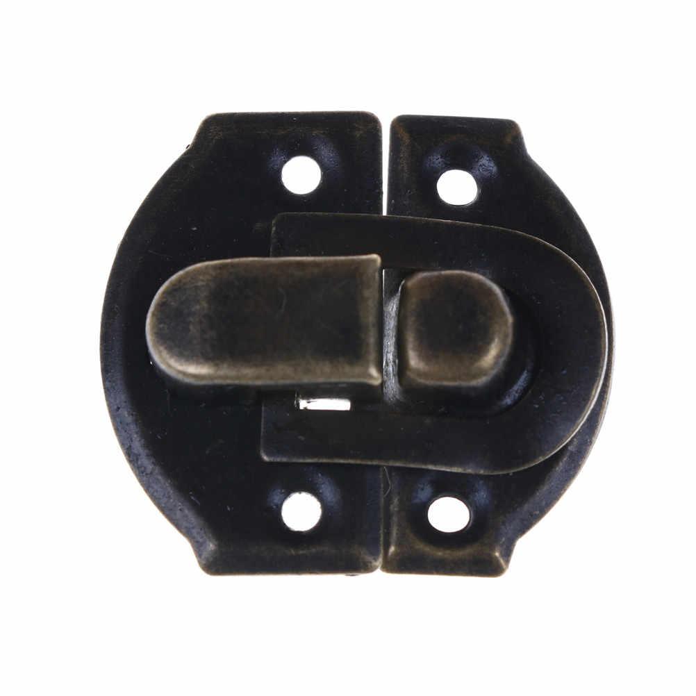 4 pcs/lot Bronze or bijoux coffre boîte valise coffre boucles à bascule moraillon loquet attraper fermoir 26X29 MM
