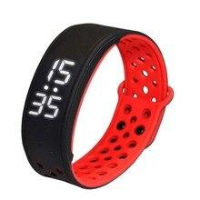 W9 Bluetooth V4.0 шаг счетчик активности на Водонепроницаемый IP67 спортивные Фитнес Трекер Смарт-часы браслет, черный + красный