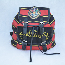 Harry Potter Backpack Printing Stripped Canvas Cartoon Harry Potter Buckle Slouch Children School bag mochila feminina Backpacks(China (Mainland))